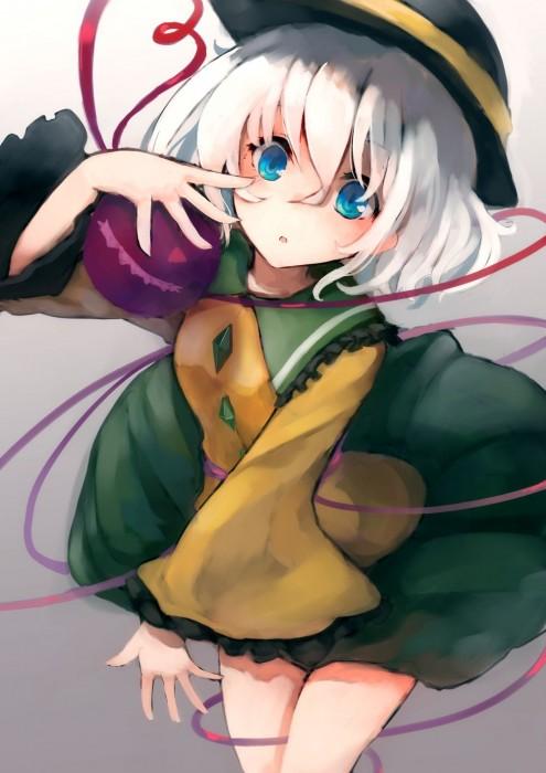 二次 エロ 萌え ゲーム 東方project 古明地こいし 緑髪 帽子 無意識を操る程度の能力 灰色の髪 グリコ 妹 二次エロ画像 komeijikoishi2015061306
