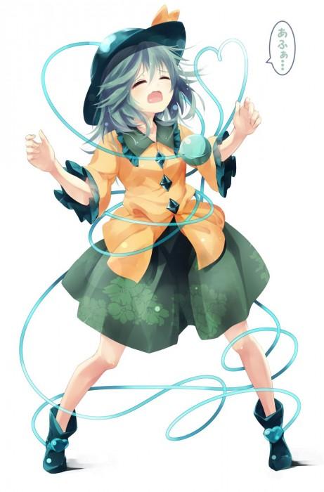 二次 エロ 萌え ゲーム 東方project 古明地こいし 緑髪 帽子 無意識を操る程度の能力 灰色の髪 グリコ 妹 二次エロ画像 komeijikoishi2015061337