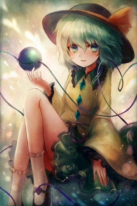 二次 エロ 萌え ゲーム 東方project 古明地こいし 緑髪 帽子 無意識を操る程度の能力 灰色の髪 グリコ 妹 二次エロ画像 komeijikoishi2015061339
