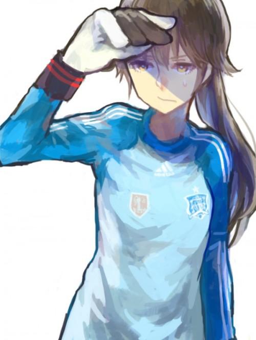 二次 非エロ 萌え フェチ コスプレ スポーツ少女 サッカーユニフォーム ボール 二次非エロ画像 soccer2015061417