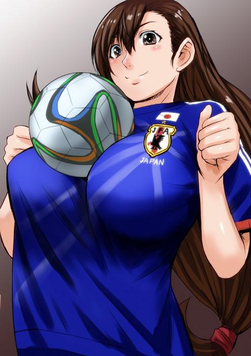 二次 非エロ 萌え フェチ コスプレ スポーツ少女 サッカーユニフォーム ボール 二次非エロ画像 soccer2015061432