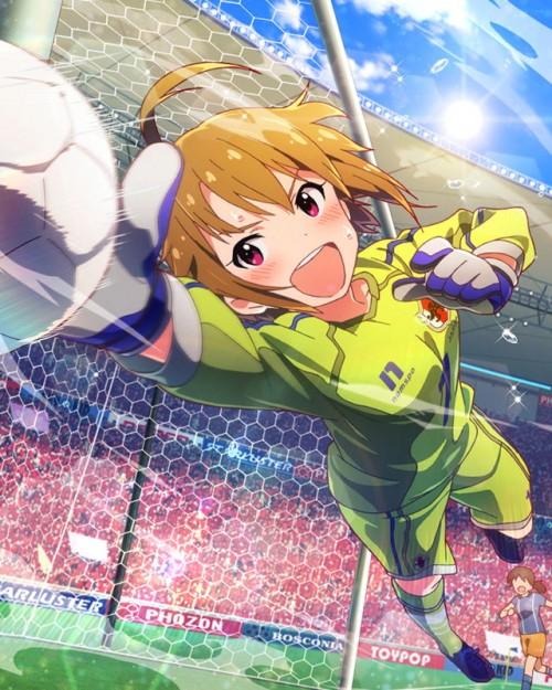 二次 非エロ 萌え フェチ コスプレ スポーツ少女 サッカーユニフォーム ボール 二次非エロ画像 soccer2015061445