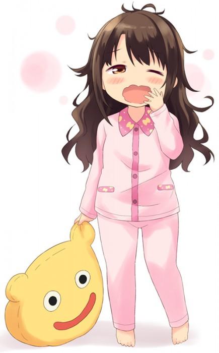 二次 エロ 萌え フェチ あくび 片目 パジャマ ワイシャツ 寝起き 寝巻き 眠い 二次エロ画像 akubi2015071814