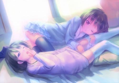 二次 エロ 萌え フェチ あくび 片目 パジャマ ワイシャツ 寝起き 寝巻き 眠い 二次エロ画像 akubi2015071845
