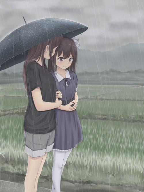 二次 エロ 萌え フェチ 美少女風景 傘 夏 梅雨 紫陽花 花 濡れてる 透けてる 二次エロ画像 ame2015071002