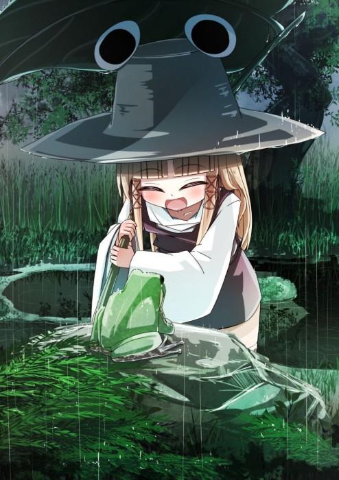 二次 エロ 萌え フェチ 美少女風景 傘 夏 梅雨 紫陽花 花 濡れてる 透けてる 二次エロ画像 ame2015071013