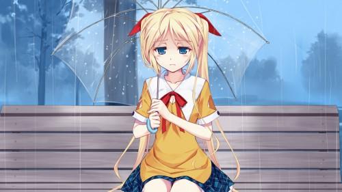 二次 エロ 萌え フェチ 美少女風景 傘 夏 梅雨 紫陽花 花 濡れてる 透けてる 二次エロ画像 ame2015071022