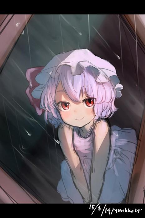 二次 エロ 萌え フェチ 美少女風景 傘 夏 梅雨 紫陽花 花 濡れてる 透けてる 二次エロ画像 ame2015071023