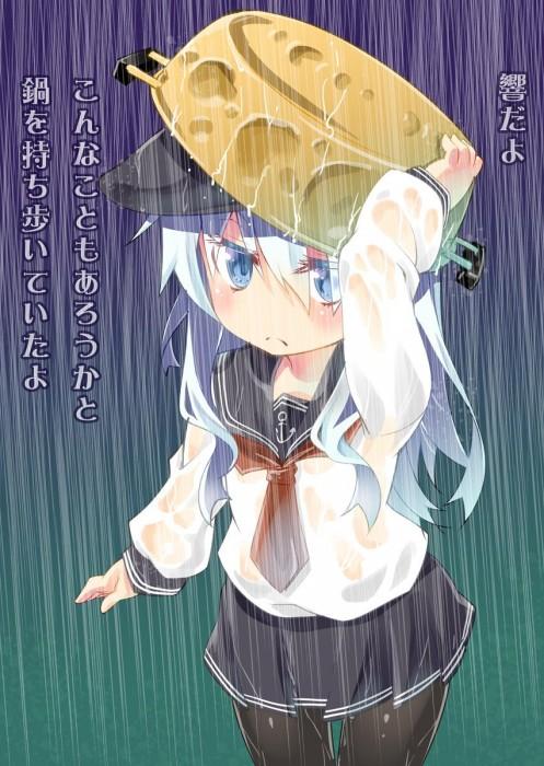 二次 エロ 萌え フェチ 美少女風景 傘 夏 梅雨 紫陽花 花 濡れてる 透けてる 二次エロ画像 ame2015071025