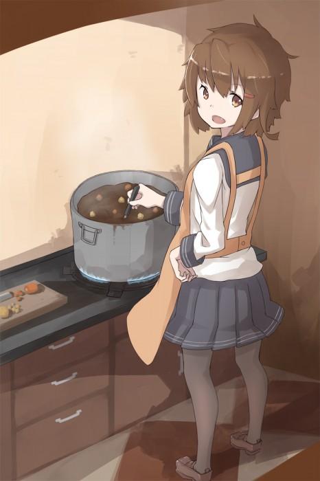 二次 非エロ 萌え フェチ 美少女風景 カレー 食べ物 食事風景 調理 料理 艦隊これくしょん シエル 二次微エロ画像 curry20150801024