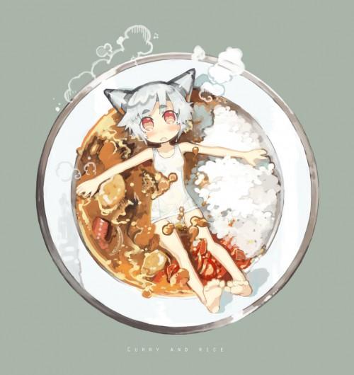 二次 非エロ 萌え フェチ 美少女風景 カレー 食べ物 食事風景 調理 料理 艦隊これくしょん シエル 二次微エロ画像 curry20150801051