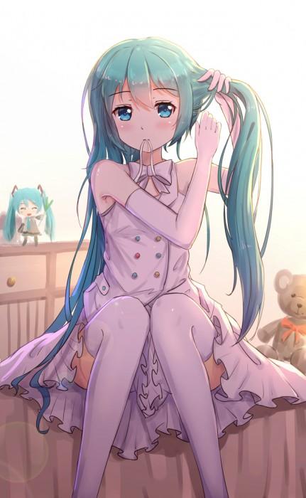 二次 微エロ ゲーム ボーカロイド 初音ミク 萌え 天使 桜ミク ただでさえ天使のミクが かわいい 桜ミク 雪ミク ボトルミク ツインテール 青緑髪 緑髪 いちご白無垢 二次非エロ画像 hatsunemiku2015070903