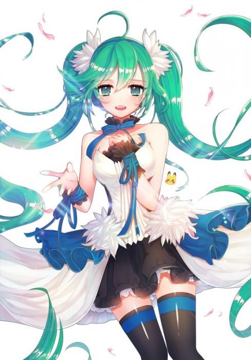 二次 微エロ ゲーム ボーカロイド 初音ミク 萌え 天使 桜ミク ただでさえ天使のミクが かわいい 桜ミク 雪ミク ボトルミク ツインテール 青緑髪 緑髪 いちご白無垢 二次非エロ画像 hatsunemiku2015070919