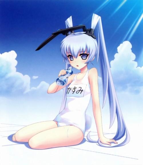 二次 エロ 萌え フェチ 水着 スク水 白スク スクール水着 透け透け 服が濡れて透けてる  透け乳首 危ない水着 二次エロ画像 shirosukumizu2015070905