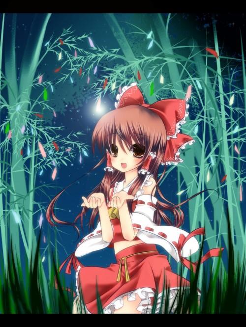 二次 非エロ 萌え 夏 七夕 笹 織姫 彦星 夜 短冊 美少女風景 浴衣 二次非エロ画像 tanabata2015070748