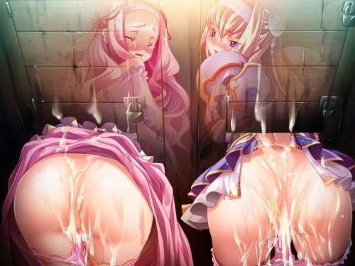 二次 エロ ぶっかけ 中出し 精子 スペルマ パイ射 乱交 複数プレイ レイプ 事後 セックス 尻射 脚射 お尻 二次エロ画像 oshiribukkake2015082607