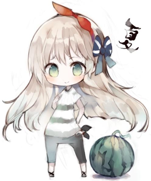 二次 非エロ 萌え フェチ 美少女風景 食べ物 果物 フルーツ スイカ割り スイカ 西瓜 夏 伊吹萃香 二次非エロ画像 suika2015081833