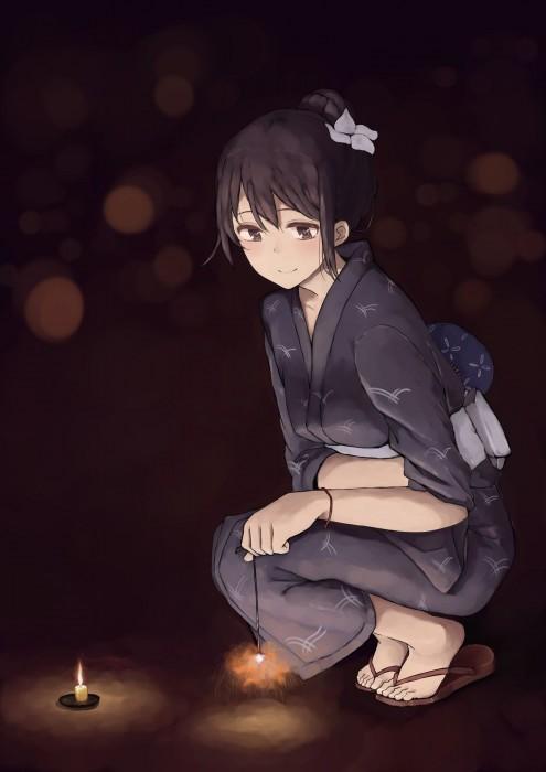 二次 萌え エロ フェチ 和服 着物 浴衣 はだけた 花火 脱衣 季節 夏 お祭り 二次エロ画像 yukata2015082423
