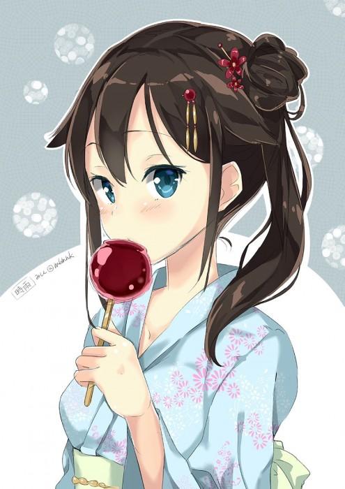 二次 萌え エロ フェチ 和服 着物 浴衣 はだけた 花火 脱衣 季節 夏 お祭り 二次エロ画像 yukata2015082432