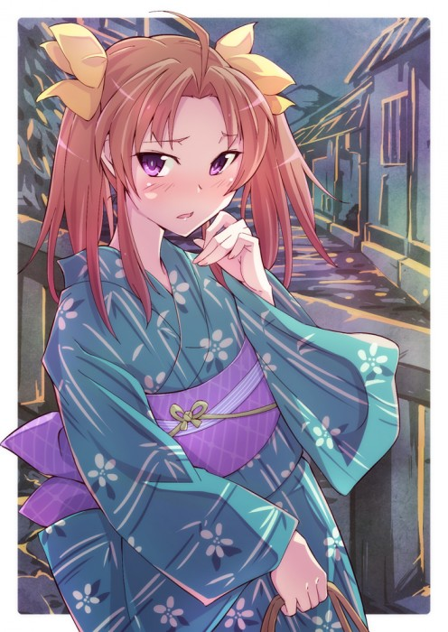 二次 萌え エロ フェチ 和服 着物 浴衣 はだけた 花火 脱衣 季節 夏 お祭り 二次エロ画像 yukata2015082435