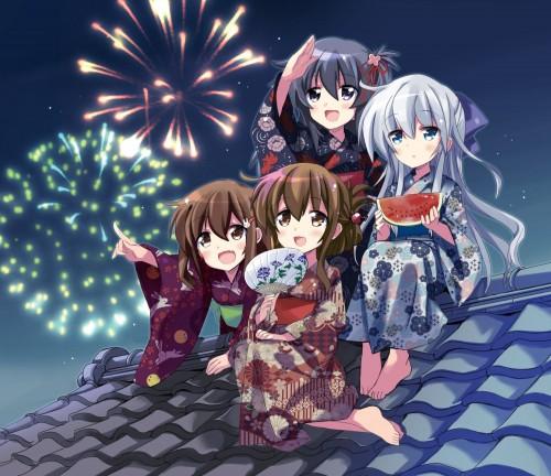 二次 萌え エロ フェチ 和服 着物 浴衣 はだけた 花火 脱衣 季節 夏 お祭り 二次エロ画像 yukata2015082441