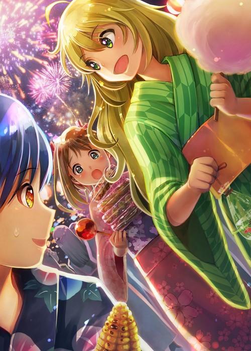 二次 萌え エロ フェチ 和服 着物 浴衣 はだけた 花火 脱衣 季節 夏 お祭り 二次エロ画像 yukata2015082444