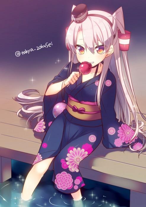 二次 萌え エロ フェチ 和服 着物 浴衣 はだけた 花火 脱衣 季節 夏 お祭り 二次エロ画像 yukata2015082446