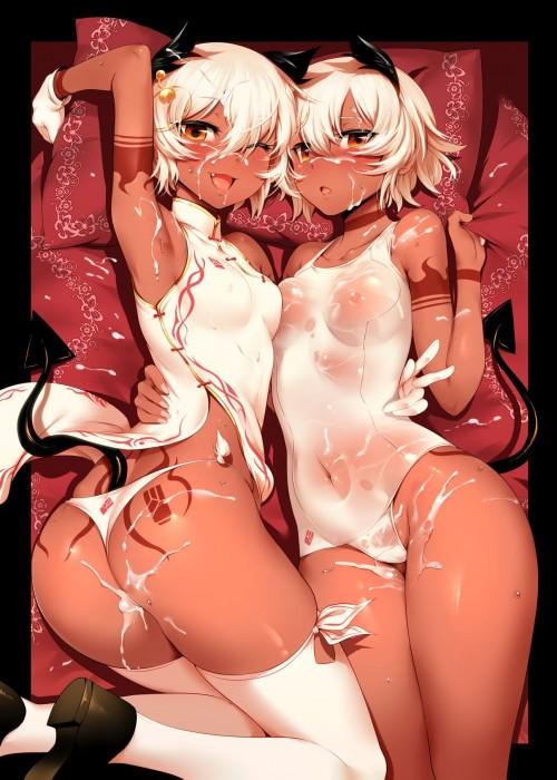 二次 エロ 萌え フェチ おっぱい 巨乳 百合 乳寄せ 抱き合ってる キス ベロチュー 乳首コリコリ 巨乳 貧乳 レズ 挟まれたいおっぱい 谷間が二つ 二次エロ画像 chichiawase2015091747