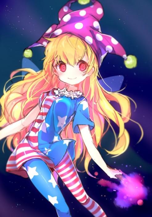 二次 エロ 萌え ゲーム 東方project クラウンピース 金髪 ロリ ストッキング・タイツ 星条旗カラー 帽子 人を狂わす程度のタイツ アメリカン 星条旗のピエロ 人を狂わす程度の能力 地獄の妖精 東方紺珠伝 二次エロ画像 clownpiece2015092310