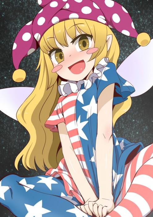 二次 エロ 萌え ゲーム 東方project クラウンピース 金髪 ロリ ストッキング・タイツ 星条旗カラー 帽子 人を狂わす程度のタイツ アメリカン 星条旗のピエロ 人を狂わす程度の能力 地獄の妖精 東方紺珠伝 二次エロ画像 clownpiece2015092317
