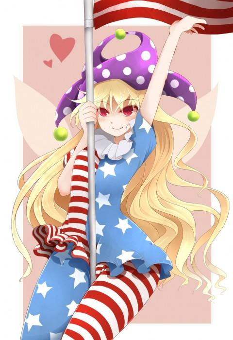 二次 エロ 萌え ゲーム 東方project クラウンピース 金髪 ロリ ストッキング・タイツ 星条旗カラー 帽子 人を狂わす程度のタイツ アメリカン 星条旗のピエロ 人を狂わす程度の能力 地獄の妖精 東方紺珠伝 二次エロ画像 clownpiece2015092321