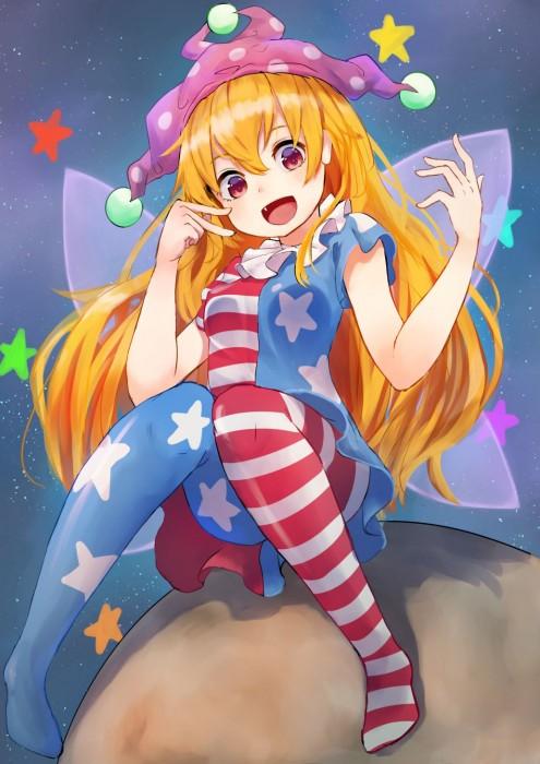 二次 エロ 萌え ゲーム 東方project クラウンピース 金髪 ロリ ストッキング・タイツ 星条旗カラー 帽子 人を狂わす程度のタイツ アメリカン 星条旗のピエロ 人を狂わす程度の能力 地獄の妖精 東方紺珠伝 二次エロ画像 clownpiece2015092327
