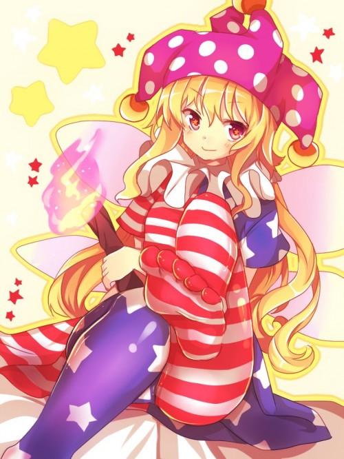 二次 エロ 萌え ゲーム 東方project クラウンピース 金髪 ロリ ストッキング・タイツ 星条旗カラー 帽子 人を狂わす程度のタイツ アメリカン 星条旗のピエロ 人を狂わす程度の能力 地獄の妖精 東方紺珠伝 二次エロ画像 clownpiece2015092336