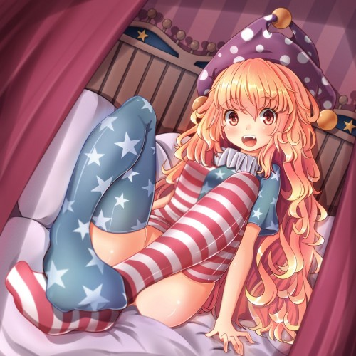 二次 エロ 萌え ゲーム 東方project クラウンピース 金髪 ロリ ストッキング・タイツ 星条旗カラー 帽子 人を狂わす程度のタイツ アメリカン 星条旗のピエロ 人を狂わす程度の能力 地獄の妖精 東方紺珠伝 二次エロ画像 clownpiece2015092344