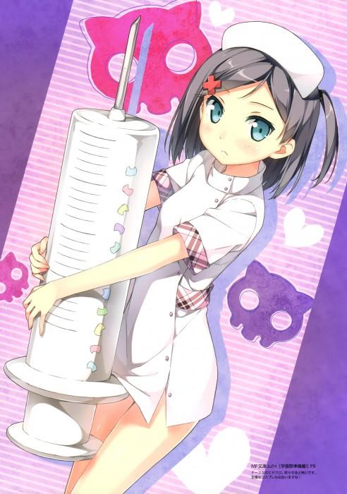 二次 フェチ 萌え 制服 ナース エロ コスプレ 看護婦 白衣の天使 注射器 聴診器 白衣 コート ナースキャップ 働く女 保健医 保健室の先生 二次エロ画像 nurse2015090708