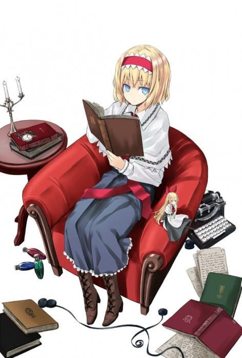 二次 非エロ 萌え フェチ 読書 漫画 雑誌 美少女風景 文学少女 二次非エロ画像 dokusho2015102527