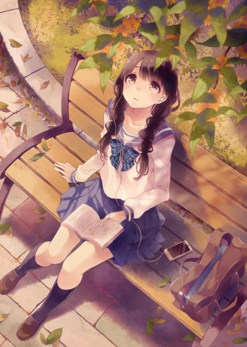 二次 非エロ 萌え フェチ 読書 漫画 雑誌 美少女風景 文学少女 二次非エロ画像 dokusho2015102533