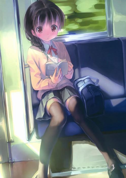 二次 非エロ 萌え フェチ 読書 漫画 雑誌 美少女風景 文学少女 二次非エロ画像 dokusho2015102542
