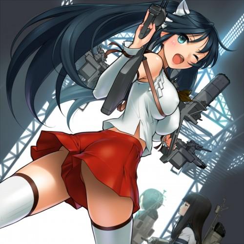 二次 エロ 萌え ゲーム 艦隊これくしょん 擬人化 艦娘 艦これ 五十鈴 ツインテール 長良型軽巡洋艦 巨乳 π/ パイスラッシュ ヘソチラ 十二鈴 緑髪 黒下着 潜水艦殺すウーマン 大きくて頑丈な駆逐艦 二次エロ画像 isuzukancolle2015103130