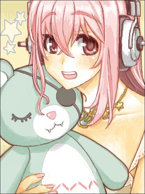 二次 萌え エロ すーぱーそに子 巨乳 おっぱい 巨乳 おっぱい ピンク髪 ニトロプラス ヘッドホン 淫乱ピンク 二次エロ画像 soniko2015101608