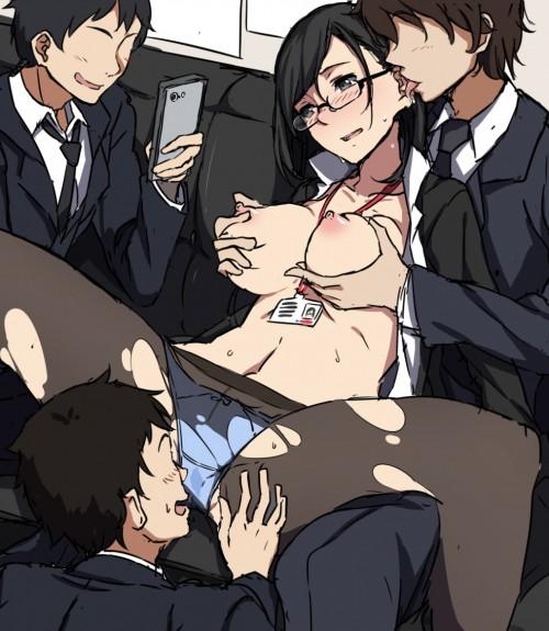 二次 エロ 萌え フェチ エロハプニング 服が破けてる ビリビリ ラッキースケベ 半裸 中破 大破 レイプ 強姦 着衣SEX 二次エロ画像 hukubiri2015110447