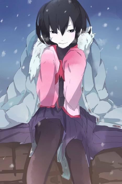 二次 非エロ 萌え 美少女風景 季節 冬 冬服 マフラークリスマス サンタクロース 雪だるま 雪 雪景色 雪の結晶 壁紙 二次非エロ画像 yuki2015111503