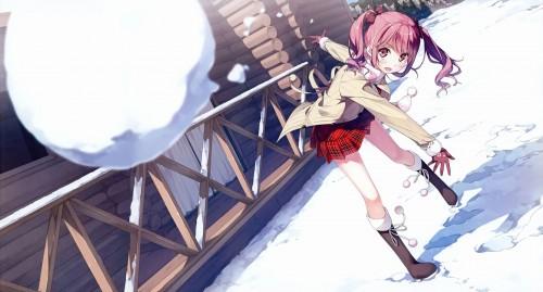 二次 非エロ 萌え 美少女風景 季節 冬 冬服 マフラークリスマス サンタクロース 雪だるま 雪 雪景色 雪の結晶 壁紙 二次非エロ画像 yuki2015111507