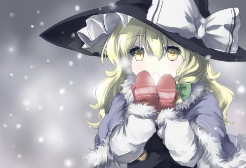 二次 非エロ 萌え 美少女風景 季節 冬 冬服 マフラークリスマス サンタクロース 雪だるま 雪 雪景色 雪の結晶 壁紙 二次非エロ画像 yuki2015111509