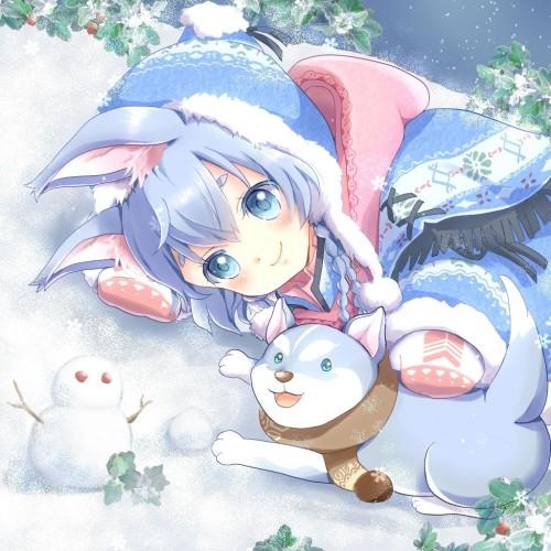 二次 非エロ 萌え 美少女風景 季節 冬 冬服 マフラークリスマス サンタクロース 雪だるま 雪 雪景色 雪の結晶 壁紙 二次非エロ画像 yuki2015111511