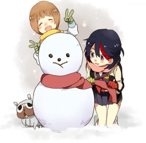 二次 非エロ 萌え 美少女風景 季節 冬 冬服 マフラークリスマス サンタクロース 雪だるま 雪 雪景色 雪の結晶 壁紙 二次非エロ画像 yuki2015111519