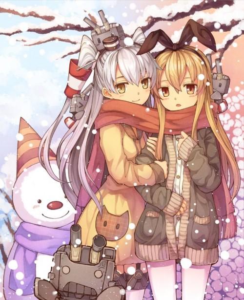 二次 非エロ 萌え 美少女風景 季節 冬 冬服 マフラークリスマス サンタクロース 雪だるま 雪 雪景色 雪の結晶 壁紙 二次非エロ画像 yuki2015111523
