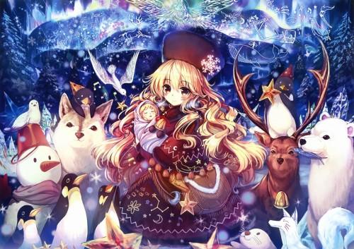 二次 非エロ 萌え 美少女風景 季節 冬 冬服 マフラークリスマス サンタクロース 雪だるま 雪 雪景色 雪の結晶 壁紙 二次非エロ画像 yuki2015111529