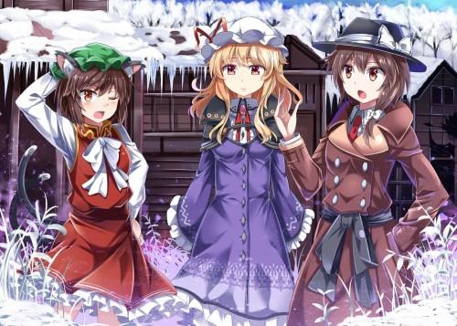 二次 非エロ 萌え 美少女風景 季節 冬 冬服 マフラークリスマス サンタクロース 雪だるま 雪 雪景色 雪の結晶 壁紙 二次非エロ画像 yuki2015111533
