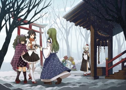 二次 非エロ 萌え 美少女風景 季節 冬 冬服 マフラークリスマス サンタクロース 雪だるま 雪 雪景色 雪の結晶 壁紙 二次非エロ画像 yuki2015111534